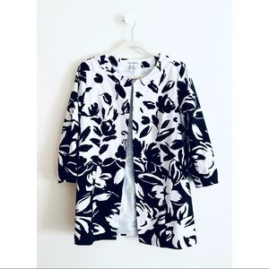 Susan Bristol silk floral print coat